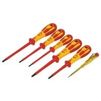 CK T49183 Dextro VDE Insulated Screwdriver Set Of 6 Slotted Parallel & Pozi