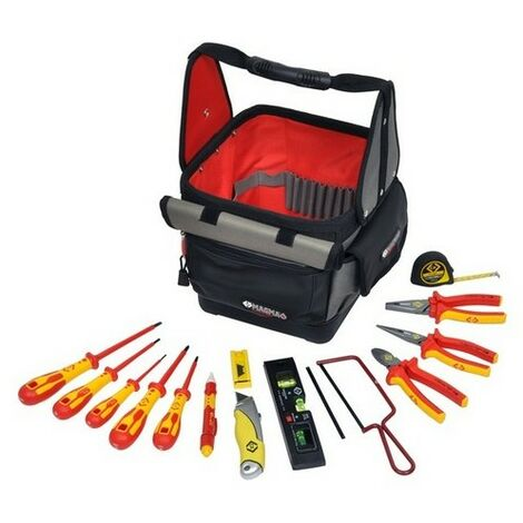 CK T5952 Electricians Tool Kit With Magma Technicians Tool Tote 14 Piece