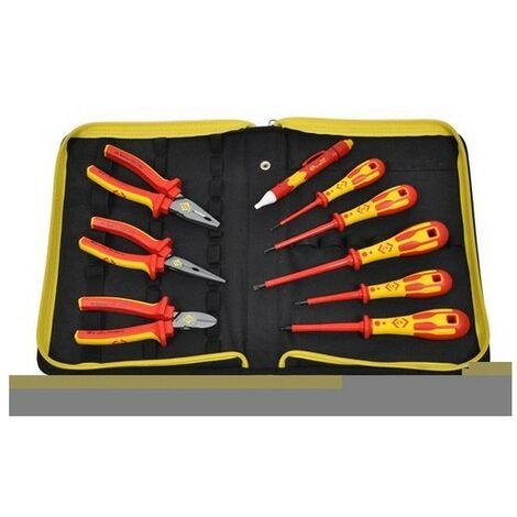 CK T5953 VDE Pliers & Screwdrivers Pozi Kit In Stoarge Wallet 10 Piece