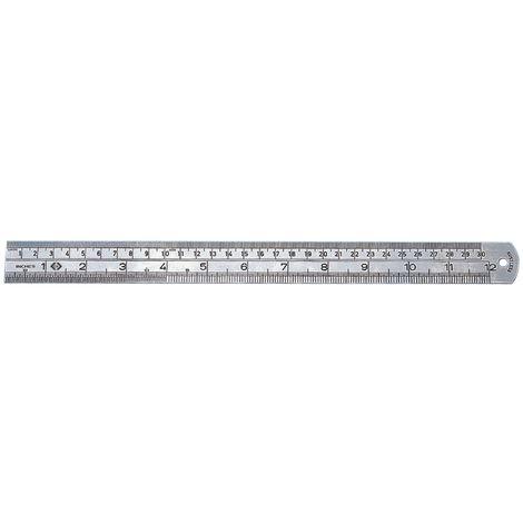 C.K Tools Stahllineal, metrisch/Zoll, 300 mm