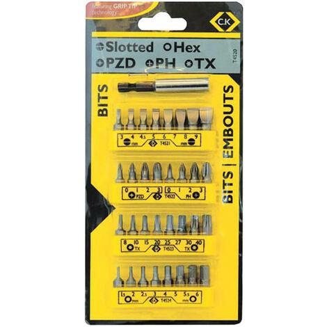 CK Tools T4520 Bit Set (25mm) Set of 33