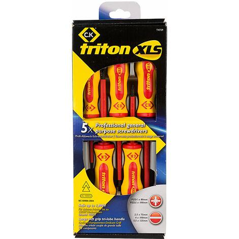 CK Tools T4729 Triton XLS Insulated Screwdriver Set5 SL/PZ