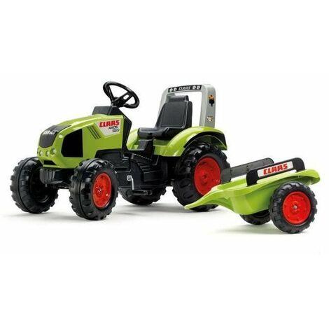 CLAAS Tracteur a pedales Claas Axos 330 + Remorque
