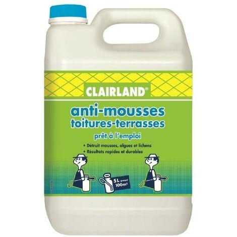 CLAIRLAND Anti-Mousses. algues et lichens sur toitures. terrasses et dallages - Solution prete a l'emploi pour pulvérisateur - 5 L