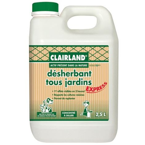CLAIRLAND - Désherbant concentré tous jardins - 200m² - 2.5 L