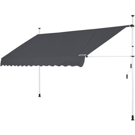 Clamp Awning Telescopic Balcony Canopy 150 - 400cm Retractable Sunshade