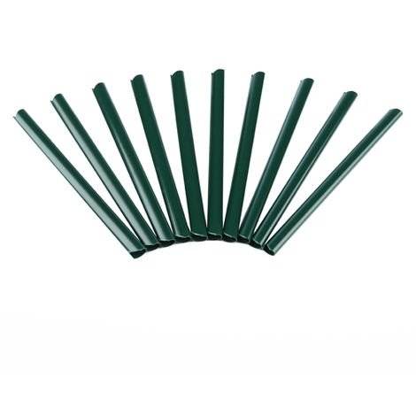 clamping rails fixing PVC fence foil privacy screen double rod mats green