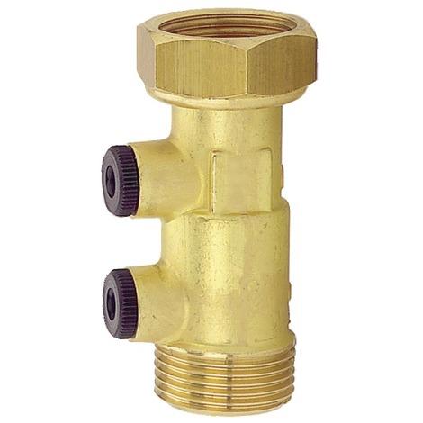 Clapet anti-pollution NF laiton écrou/m 20x27