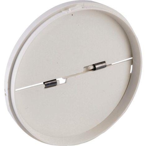 Clapet anti-refoulement Convient pour Ø de tube: 12.5 cm Wallair N40818 blanc