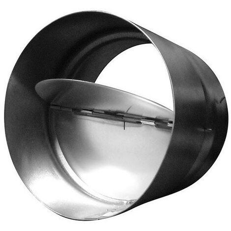Clapet anti-retour 160mm métal pour conduit de ventilation