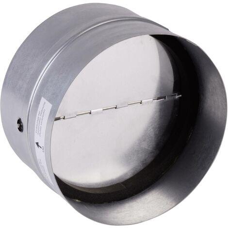 Clapet anti-retour avec joint en caoutchouc Convient pour Ø de tube: 10 cm Wallair N35981 galvanisé S89339