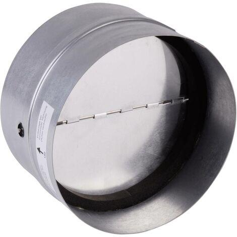 Clapet anti-retour avec joint en caoutchouc Convient pour Ø de tube: 12.5 cm Wallair N35984 galvanisé