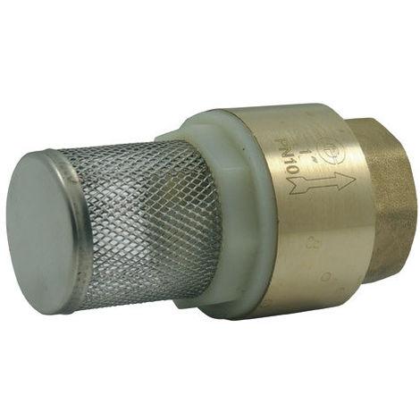 Clapet corps laiton avec crépine inox 304 - 1''1/4