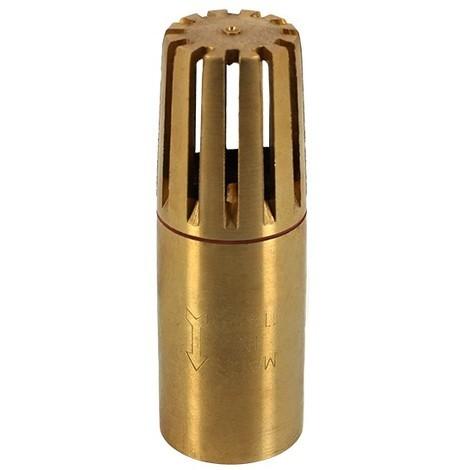 Clapet crépine laiton tubulaire 1 1/4 de Jetly - Clapet anti-retour