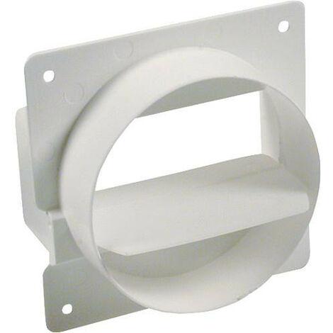 Clapet de retenue tuyaux plat 125 mm, blanc