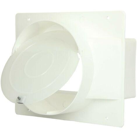 Clapet de retenue tuyaux plat 150 mm, blanc
