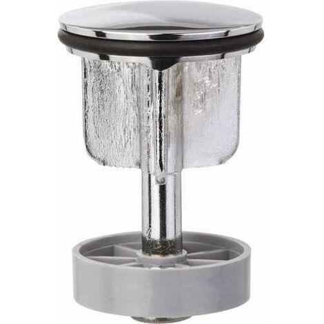 Clapet de vidage pour lavabo sur joint Diam39,5 tige Diam35,5, H 67/95 mn