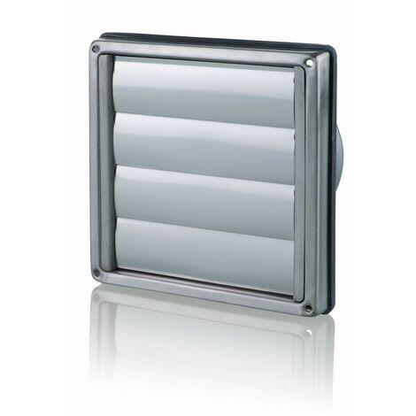 Clapet extérieur DN150 inox brossé lamelles à fermeture autom.