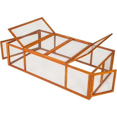 24f2fe735b63c4 Clapier à Lapin Hamster Rongeurs d'Extérieur en Bois 181 cm x 90 cm ...