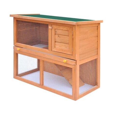 Clapier d'exterieur Enclos pour petits animaux 1 porte Bois
