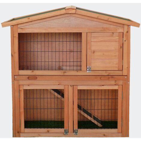 Clapier grand espace Cabane pour lapin ou rongeur