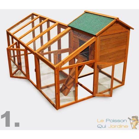 Clapier Ou cabane Pour Rongeurs Ou Poules - 229,5 cm - Bois D'Épicéa