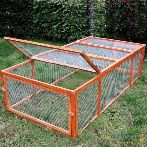Clapier, poulailler, cage à rongeurs ou encore enclos chiots 180 cm