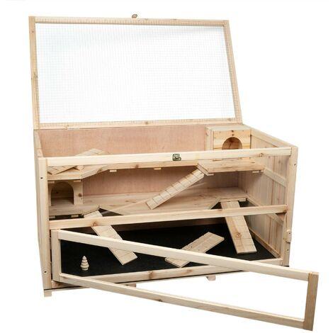 Clapier pour cochon d'Inde CHINO en bois, dimensions: 100x55x55 cm (L/P/H)
