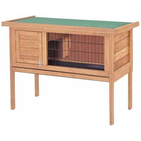 Clapier pour lapins en bois 91,5 x 45 x 70 cm