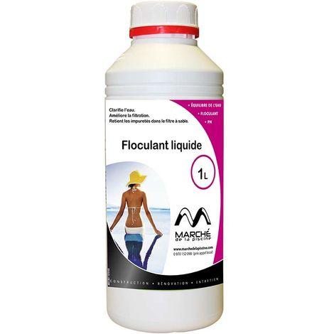 Clarifiant floculant liquide Marchedelapiscine bidon 1L