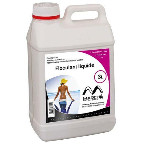 Clarifiant floculant liquide Marchedelapiscine bidon 3L