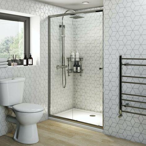 """main image of """"Clarity 4mm sliding shower door 1000mm"""""""