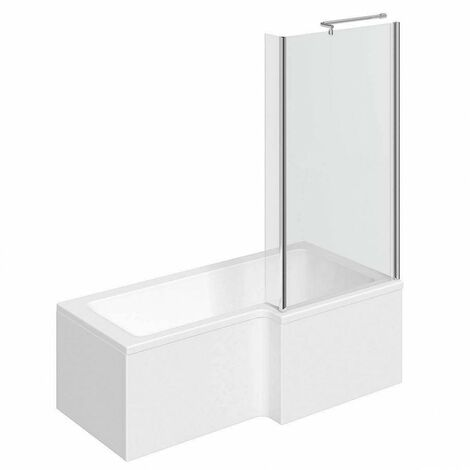 Clarity L shaped right handed shower bath 1700mm with 5mm shower screen
