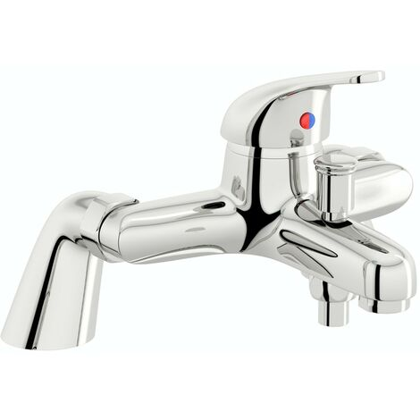 Clarity single lever bath shower mixer tap with slider rail