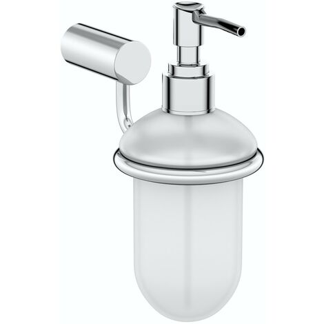 Clarity soap dispenser and holder