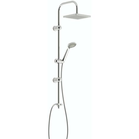 Clarity square head shower riser kit