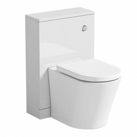 Clarity white back to wall toilet unit and contemporary toilet with soft close seat