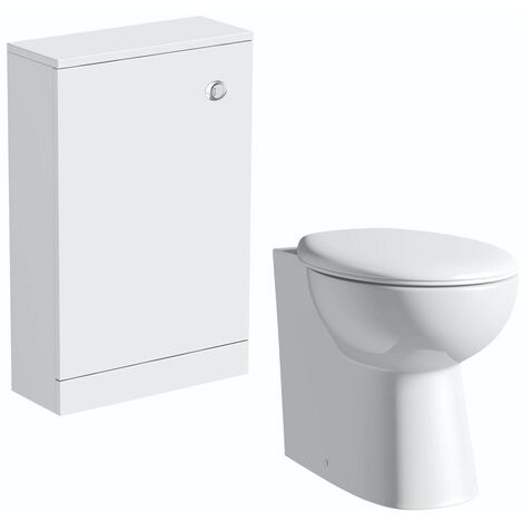"""main image of """"Clarity white back to wall toilet unit and toilet with seat"""""""
