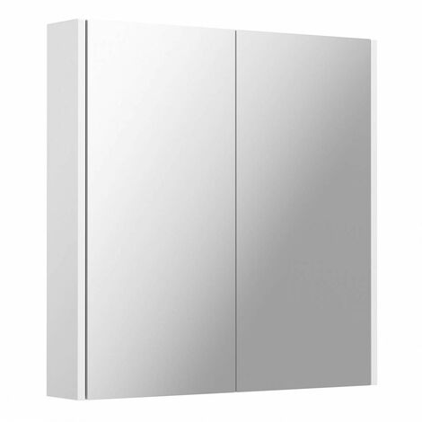 """main image of """"Clarity white mirror cabinet 600 x 600mm"""""""