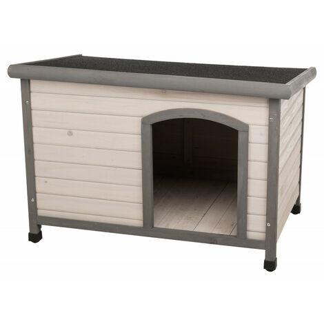 Clásica casa de perro con techo plano. 104 x 72 x 68 cm . gris