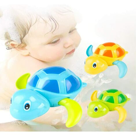 Classic Baby Bath Toys Clockwork Turtle For Toddlers Boys Girls, Winding Up Water Toys Swimming Turtle Summer Pool Bath Float Toys