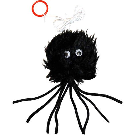 Classic Black Furry Spider Cat Toy (3in) (May Vary)