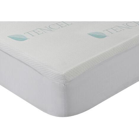 Classic Blanc - Surmatelas en mousse à mémoire, Lyocell, 4cm . 200x200cm , Blanc . Lit de 200