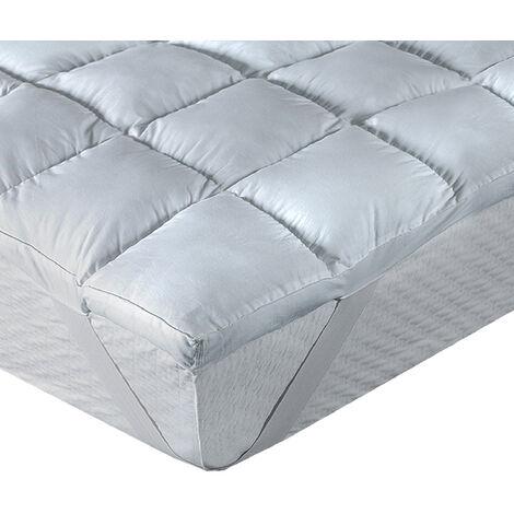 Classic Blanc - Topper de fibra de gran confort de 8 cm antialérgico