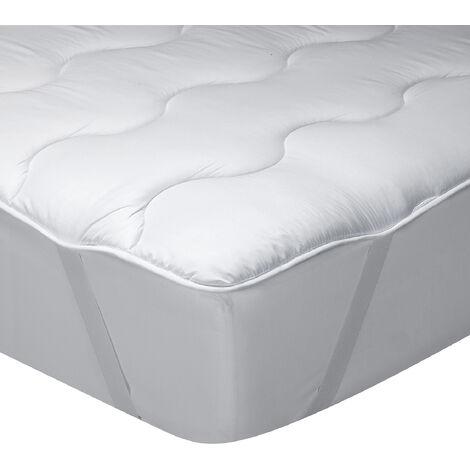 Classic Blanc - Topper de fibra hueca siliconada y microfibra perchada 3 cm