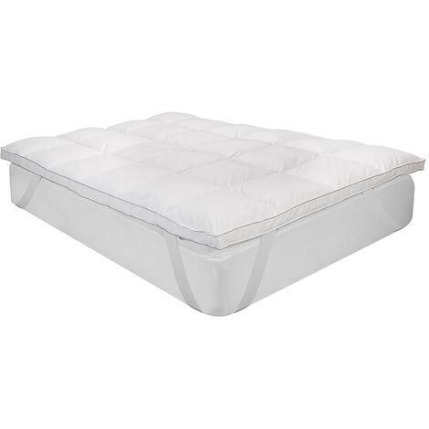 Classic Blanc - Topper de pluma Confort Plus de 9 cm transpirable