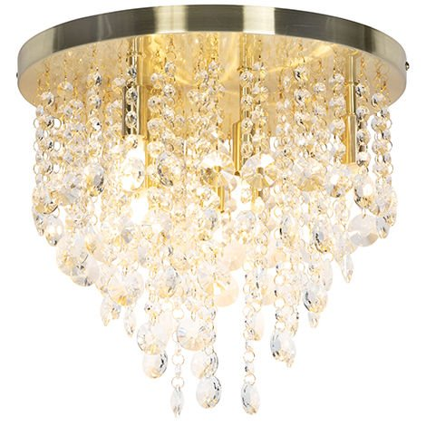 Classic ceiling lamp gold / brass 35 cm - Medusa
