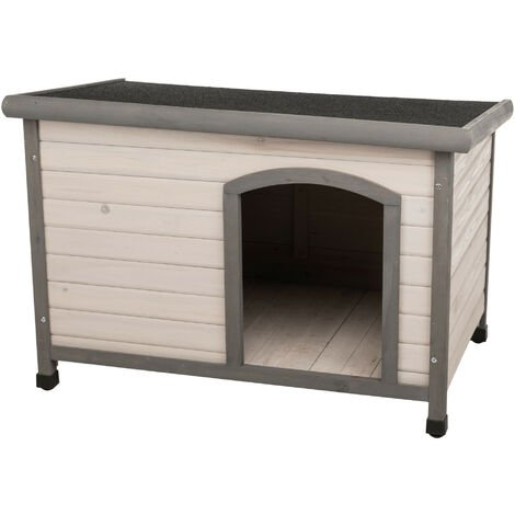 Classic dog house with flat roof. 104 x 72 x 68 cm . grey