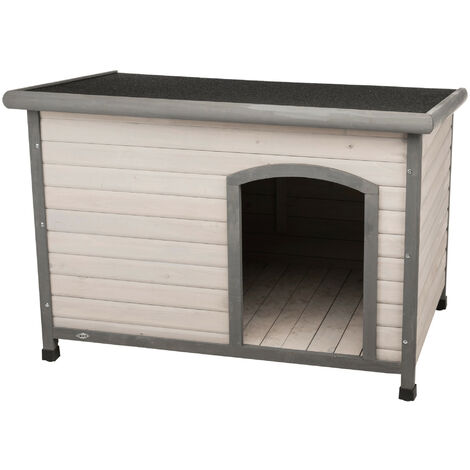 Classic dog house with flat roof. 116 x 82 x 79 cm . grey