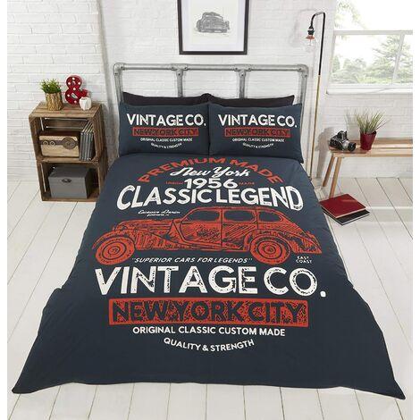 Classic Legend Classic Vintage Car Double Duvet Cover Bedding Set